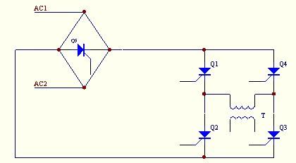 可控硅大功率直流升压电路图